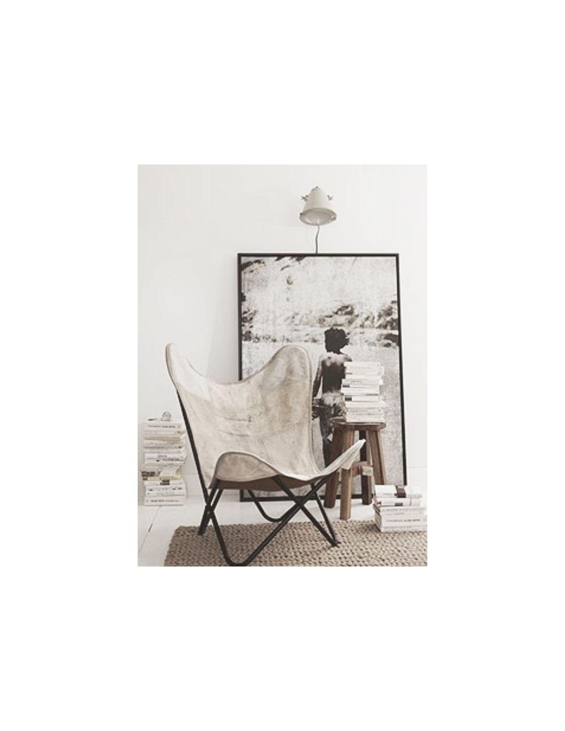 fauteuil butterfly blanc en tissu recycl par nordal otoko. Black Bedroom Furniture Sets. Home Design Ideas