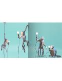 Applique murale the Monkey debout en résine blanc par Seletti