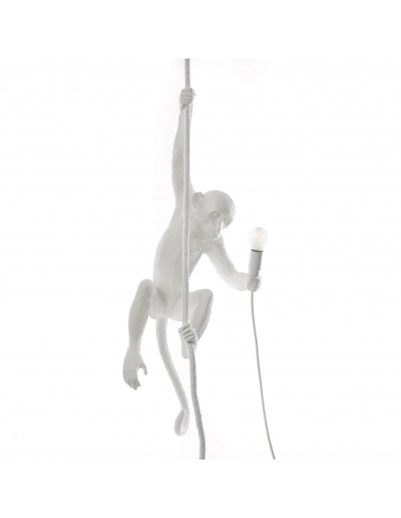 Suspension the Monkey en résine blanc par Seletti