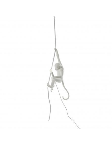 Suspension the Monkey en résine blanc par Seletti