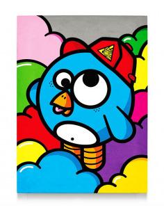 Tableau en béton Beret explosif par Birdy Kids Street Art et Lyon beton