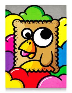 Tableau en béton biscuit par Birdy Kids Street Art et Lyon beton