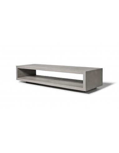 Table de t l vision monobloc en b ton for Table de tele