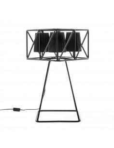 suspension en li ge naturel luiz lamp au design contemporain et naturel. Black Bedroom Furniture Sets. Home Design Ideas