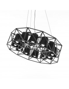 Suspension Multilamp ring au style industriel par Seletti