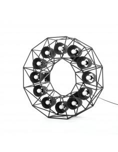 Lampadaire Multilamp ring au style industriel par Seletti
