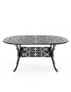 Table Industry Oval Garden 152 cm en aluminium par Seletti