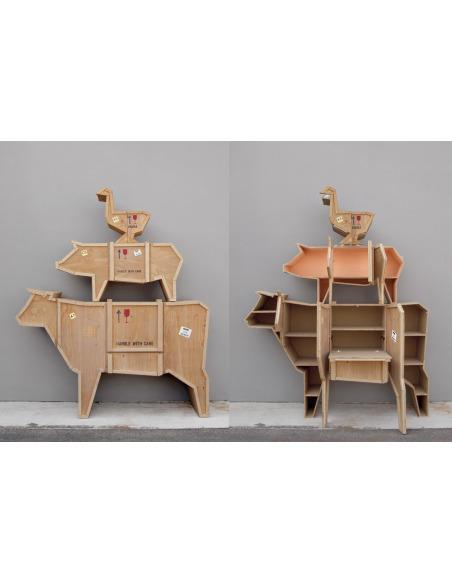 Buffet Sending Animals en forme de cochon par Seletti