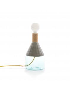 Lampe à poser MRND Dina en verre, céramique et liège par Seletti