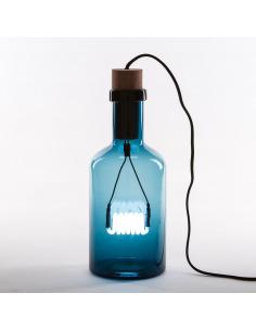 Lampe à poser bouché en verre et bois par Seletti