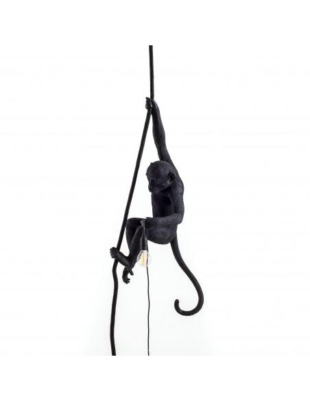 Suspension the Monkey en résine noire par Seletti