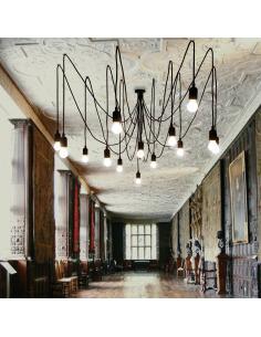 Suspension modulable maman de 14 ampoules LED par Seletti