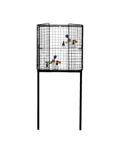 Vitrine cage Les Volières en métal au design industriel par Seletti