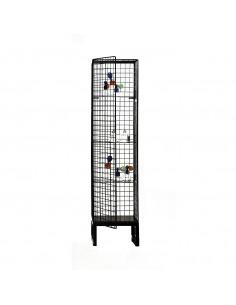 Grande vitrine cage Les Volières en métal au design industriel par Seletti