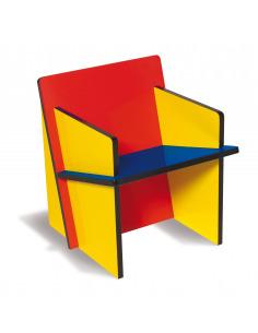 Fauteuil Bauchair en MDF au design graphique par Seletti