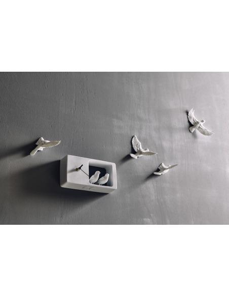 Horloge design moineau Sparrow X CLOCK par Haoshi