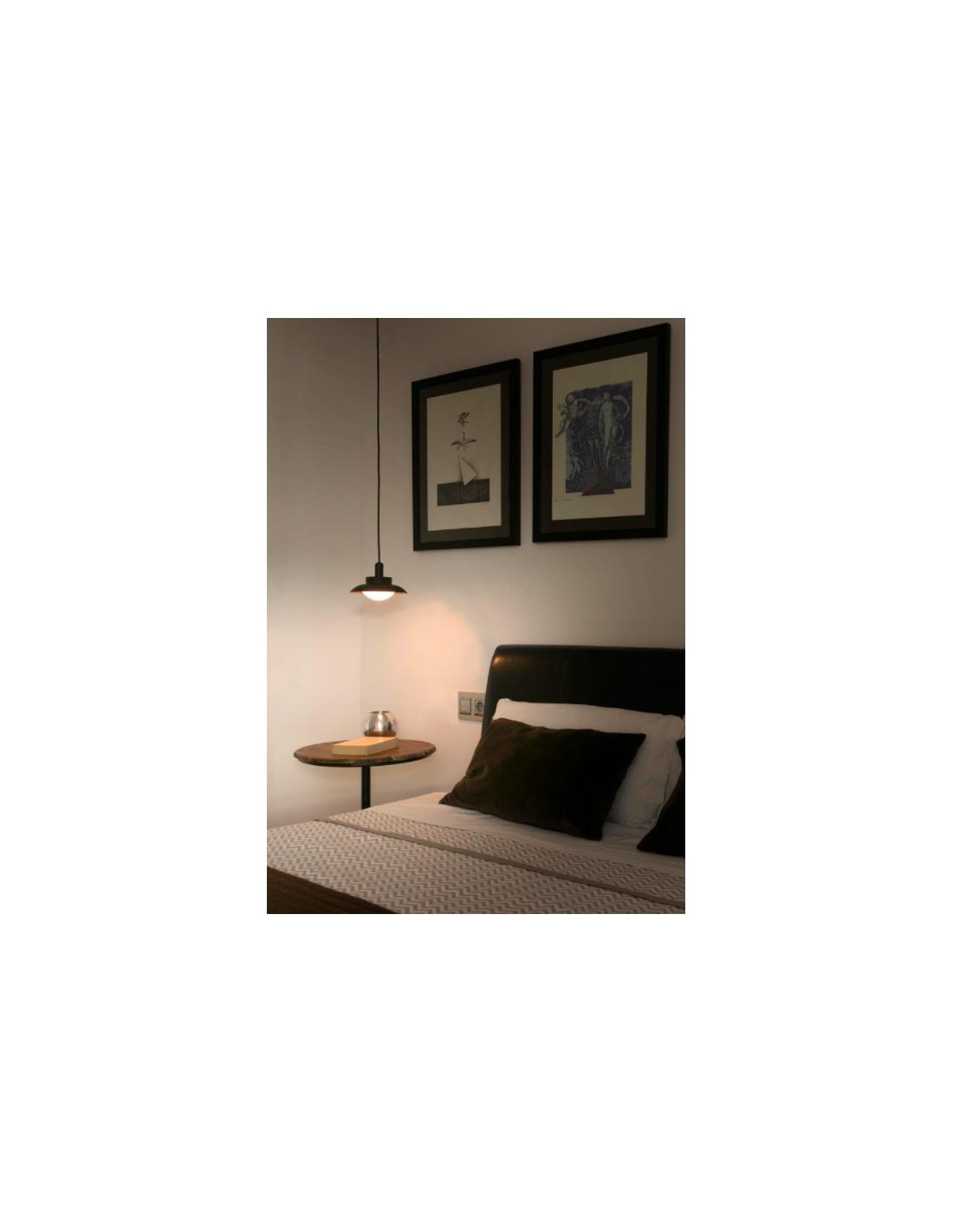 suspension design globy noir en m tal et verre par alex manel llusc otoko. Black Bedroom Furniture Sets. Home Design Ideas