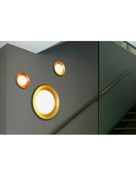 Applique murale design Globy Ø39 cm en métal et verre par Alex & Manel Lluscà