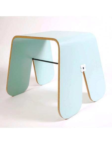 Tabouret minimaliste BUNNY STOOL COLOR par Uan Project en contreplaqué hêtre
