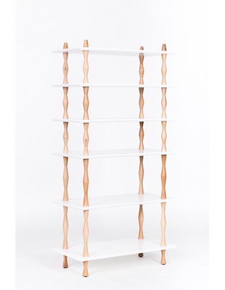 Bibliothèque en bois KORRO 80 cm par Marcin Gładzik