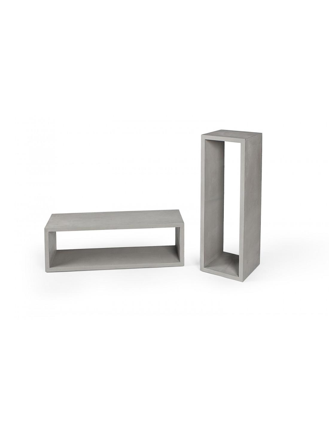 Cube de rangement monobloc en b ton l otoko - Cube design rangement ...