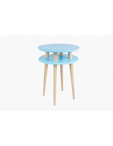 Table basse en bois UFO high par Magdalena Garncarz et Szymon Hanczar