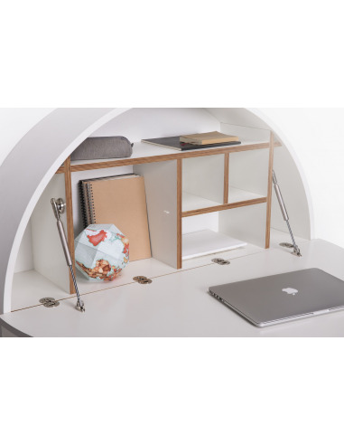 bureau mural pill blanc en bois par inesa malafej au design scandinave. Black Bedroom Furniture Sets. Home Design Ideas