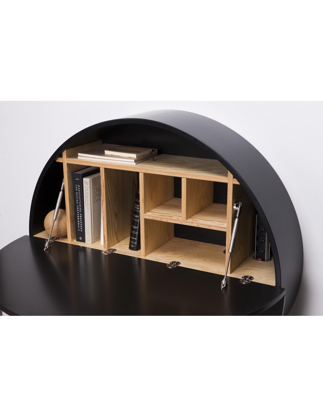 bureau mural pill noir en bois par inesa malafej au design scandinave otoko. Black Bedroom Furniture Sets. Home Design Ideas