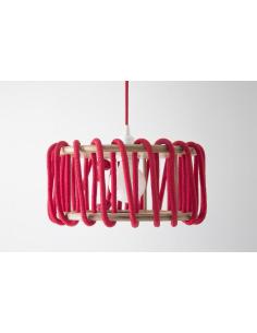 Suspension Macaron 30 cm par Silvia Ceñal en bois et corde
