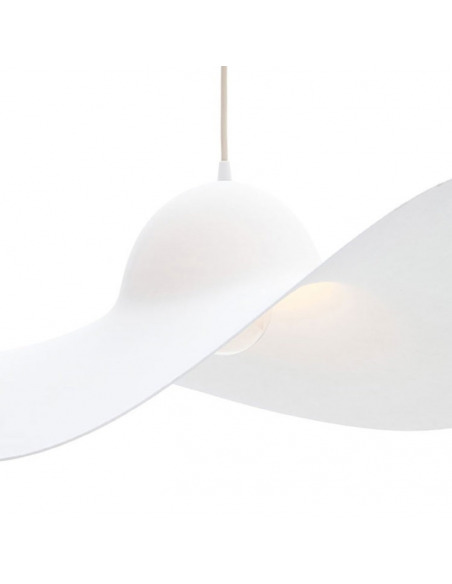 Suspension Hat blanc en forme de chapeau par Mars Design Studio