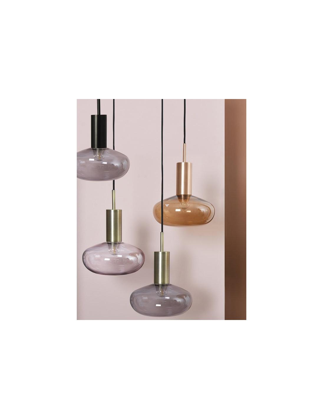 Suspension 3 Lumi Res En M Tal Chrom H100cm Bling Suspension Luminaire En Cuivre