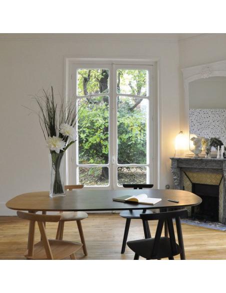 Table Ombree en chêne avec dégradé noir L 190 cm par ENOstudio