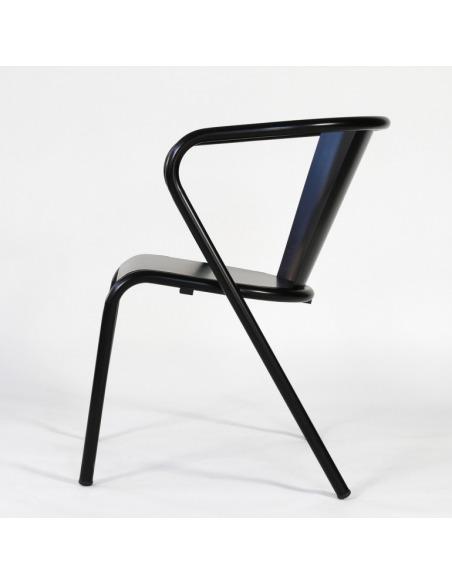Chaise de bistrot portugais en métal Gonçalo au style vintage