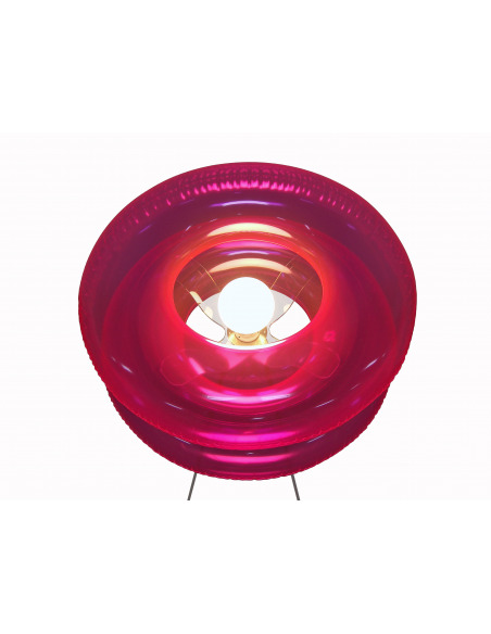 Lampadaire Big Pink avec abat-jour gonflable par Puff Buff