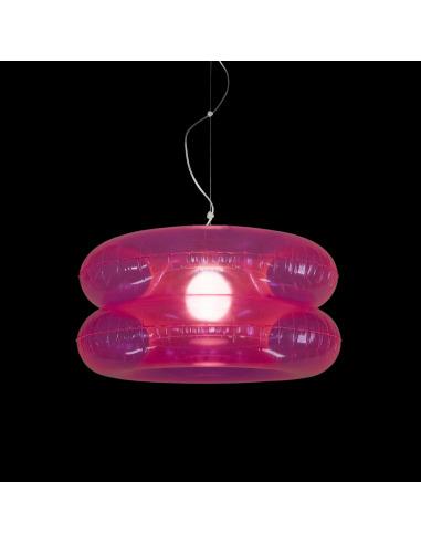 Suspension Big Pink avec abat-jour gonflable par Puff Buff