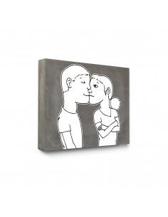 Tableau en béton Les Amoureux par Lucie Albon - LYON BETON