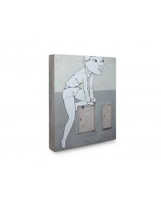 Tableau en béton Boitier EDF par Lucie Albon - LYON BETON