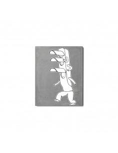 """Tableau pour chambre d'enfant en béton """"Feu"""" par Lucie Albon - LYON BETON"""