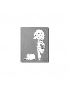 """Tableau pour chambre d'enfant en béton """"Valise croco street"""" par Lucie Albon - LYON BETON"""