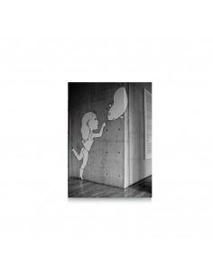 """Tableau en béton street art """"Pointé du doigt"""" par Lucie Albon - LYON BETON"""