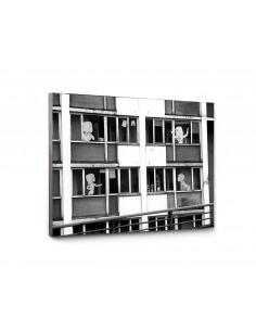"Tableau en béton street art ""Immeuble"" par Lucie Albon - LYON BETON"