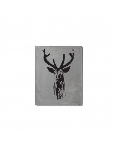 Tableau en béton design Cerf de Bertrand Jayr - LYON BETON