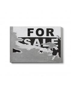 """Tableau en béton Street art """"For sale"""" de Bertrand Jayr - LYON BETON"""