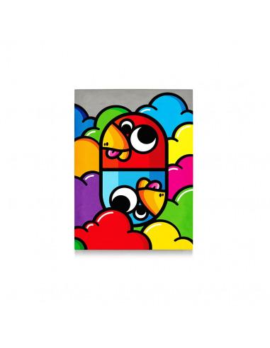 Tableau En Beton Pillule Street Art Par Birdy Kids Lyon Beton