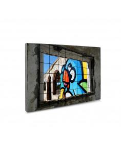 Tableau en béton Ibiza street-art par Birdy Kids - Lyon Béton