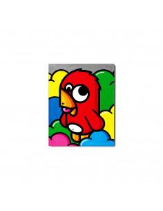 Tableau en béton Small Oiseau rouge par Birdy Kids - Lyon Beton