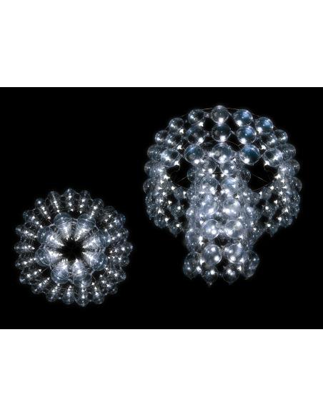 Suspension chandelier BUBBLES avec abat-jour gonflable par Puff Buff