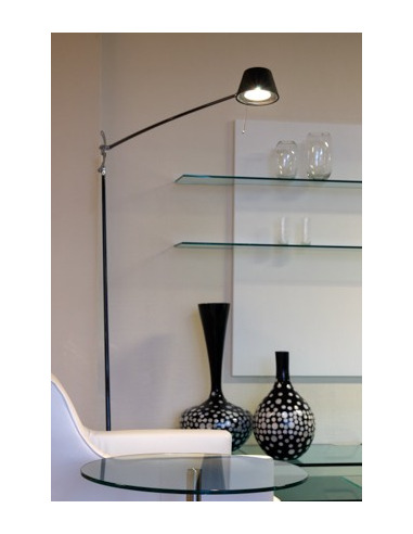 lampadaire liseuse r glable h117 chrom design en carbon. Black Bedroom Furniture Sets. Home Design Ideas