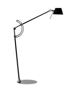 Lampe à poser liseuse réglable H60 chromé design en carbon