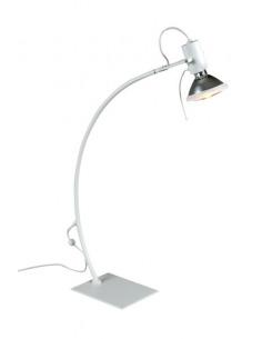 Lampe à poser arqué blanc avec sensitive-touch au design minimaliste